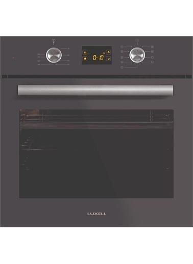 Luxell Luxell Ddt Antrasit Gri  8 Prg Dijital Dokunmatik Cam Ankastre Set (5 Gözlü Ocak + 8Prg. Fırın + Kumandalı Dav.) Antrasit